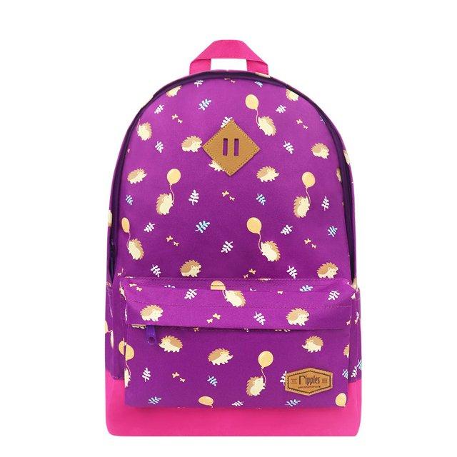 [PROMO] Hedgehogs School Backpack (Purple)