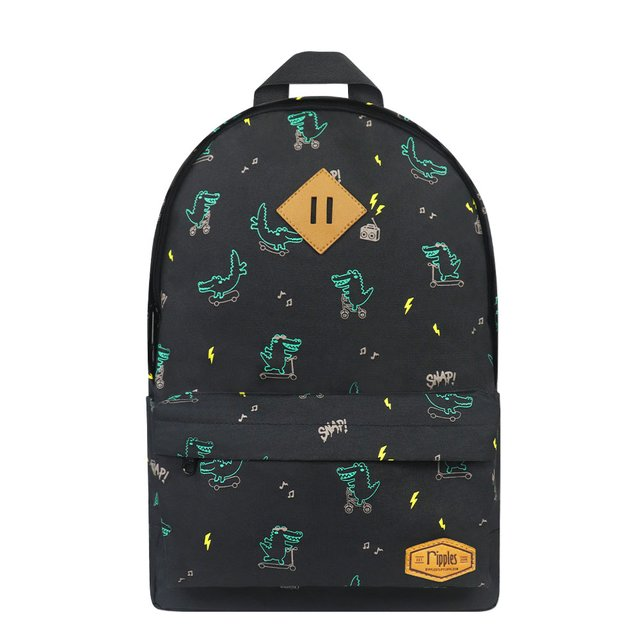 Crocodile School Backpack (Black)