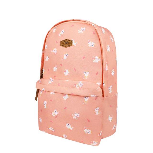 Kittens Digital Print Backpack (Peach)