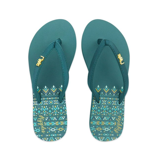 Astrial Aztec Ladies Sandals (Deep Forest Green)
