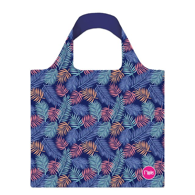 Tropical Leaves Recycle Eco Tote Bag