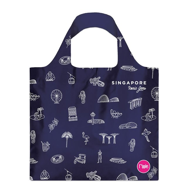 [PROMO] Singapore Iconic Gems Recycle Eco Tote Bag