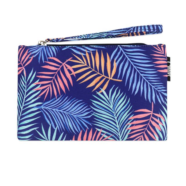 [PROMO] Tropical Leaves Essential Pouch (Blue)