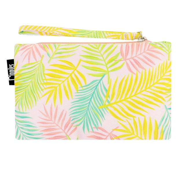 [PROMO] Tropical Leaves Essential Pouch (Peach)
