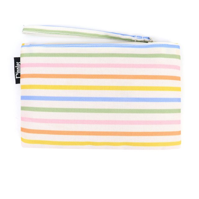 [PROMO] Colourful Lines Essential Pouch (Cream)