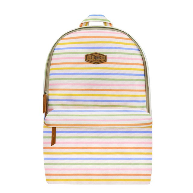 Colourful Stripes Digital Print Backpack