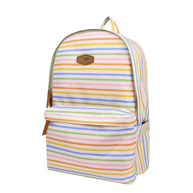 Colourful Stripes Digital Print Backpack
