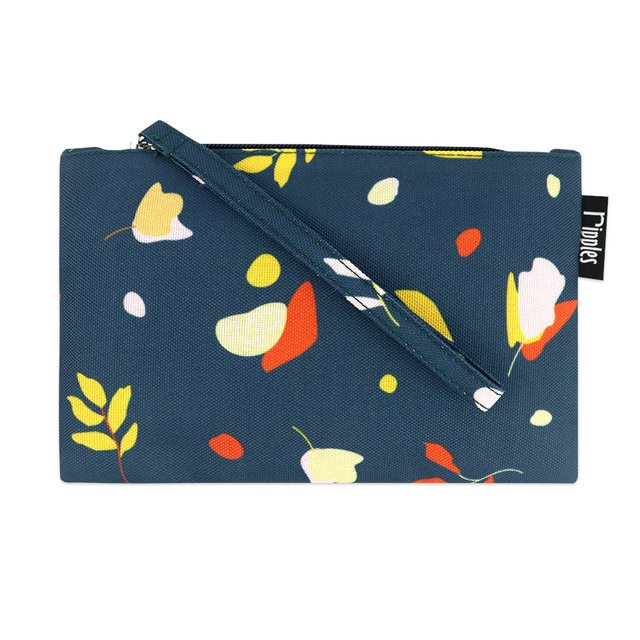[PROMO] Abstract Leaves Essential Pouch (Dark Blue Grey)